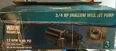 New WAYNE RELIANT ONE Cast Iron 3/4HP Shallow Well JET PUMP 85759 115/230v