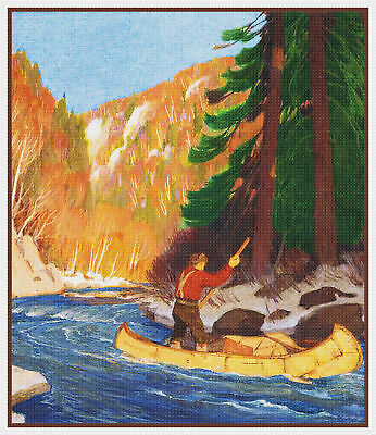 After the Winter Storm by Canadian Clarence Gagnon Counted Cross Stitch Pattern