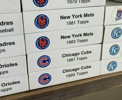 1981 and 1985 Chicago Cubs Topps Team Sets; 59 Cards total with Custom Boxes