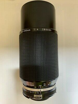 """EXC+"" Nikon Ai-s Zoom Nikkor 80-200mm f/4 MF Telephoto Lens w/Cap From Japan A7"