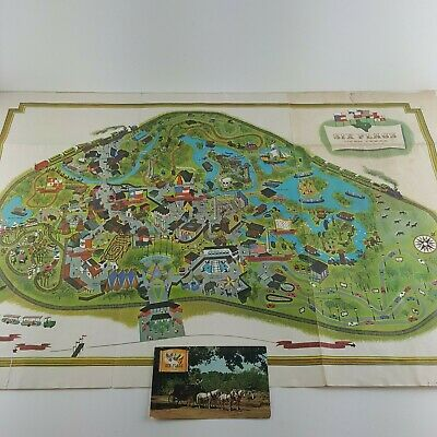 Vtg SIX FLAGS OVER TEXAS Patch Amusement Park Rides Roller Coasters /& Fun 00AG