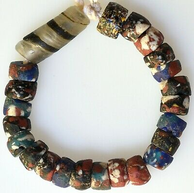 23 Small Mixed Old African Trade Beads