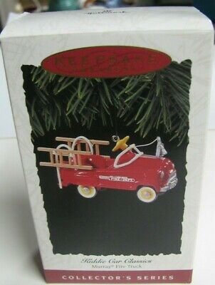 Vintage Murry Fire Truck Hallmark Keepsake Ornament  (Series Verification 2) Nib