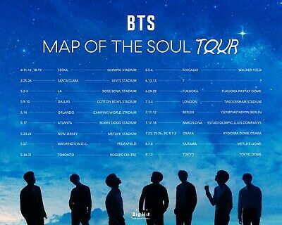 BTS Map Of The Soul - Cotton Bowl Stadium May 10, 2020 2 For Section 15, Row 36