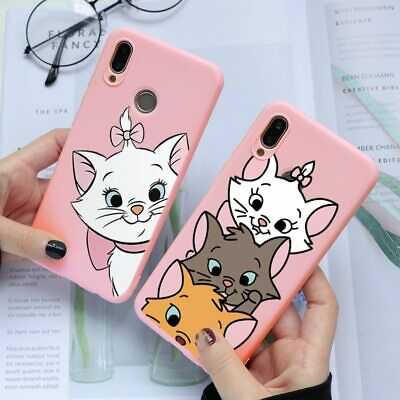 Marie Cat Silicone Case For Huawei Mate 10 Lite P8 P9 P10 P20 P30 Y6 Y7 Pro 2019