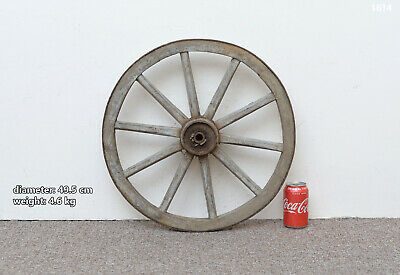 Vintage old wooden cart wagon wheel  / 49.5 cm - FREE DELIVERY