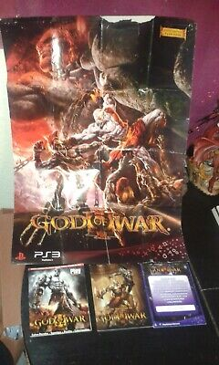 God Of War Iii Limited Edition Pal España A3 Poster 116/2000 Art Book Guide Ps3