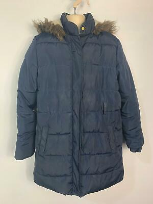 Girls Marks&Spencer Navy Blue Winter Casual School Rain Coat Kids Age 11/12 Year