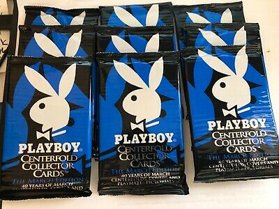 1995 Playboy Centerfold Collector Cards March Edition ~ 9 Unopened Pack Lot