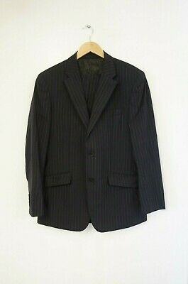 "Blake & Carruthers Two-Piece Wool Navy Pinstripe Suit (UK Size 40""R W34"" L32"")"