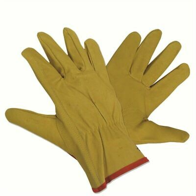 Hortex HEAVY DUTY LEATHER GARDEN GLOVES 1Pair Small Snug Fit With Tab Fastener