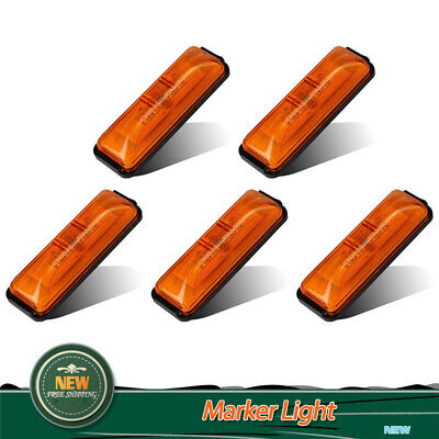 "5Pcs Amber 4"" Side Marker 4 LED Light Clearance Warning Indicator Fender  Lamps"
