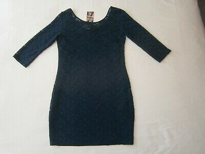Ladies/Girls Dress(£25), By River Island size-10/12 Navy Blue N & E Fully Lined