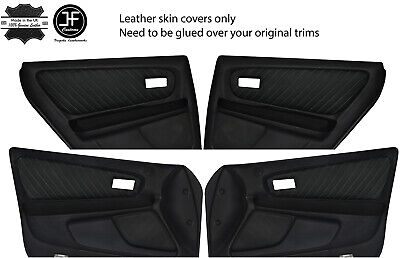 GREEN STITCH 2X FRONT DOOR CARD TRIM SKIN COVERS FITS VW BEETLE 1998-2011