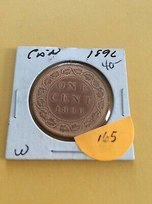Canada 1896 Large Cent One Cent Bronze Coin      (211-165)