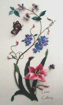 Embroidery Pattern L.CALLERY Summer Dream/Fabric/Thread/Beads (PartCompltd)-SD85