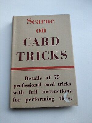 Scarne on Card Tricks by John Scarne - 1st Edition 1953 Vintage Magic Trick Book