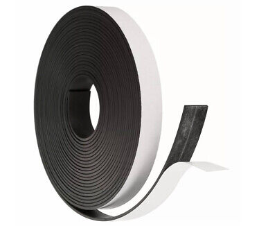 SELF ADHESIVE MAGNETIC TAPE STRIP STRONG STICKY FRIDGE PICTURE CRAFT 12.7mm
