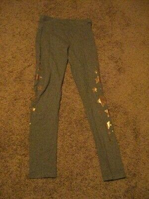 JUSTICE  NWOT   Girls Size 14/16   Gray Starred Leggings