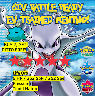 MEWTWO 6IV Pokemon Sword and Shield | SHINY✨ | + DITTO OFFER LEGITIMATE