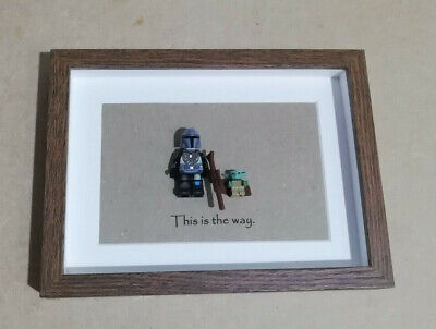 LEGO Star Wars Mandalorian and baby yoda gift - Minifigures in Display Frame