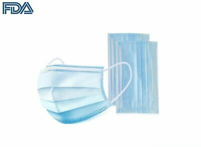 50 PCS Disposable Face Mask Medical Dental Industrial 3-Ply Coronavirus Flu