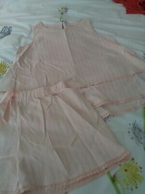 New Marks And Spencer Girls Summer Pyjamas Colour Pink Age 14 -15 Yrs