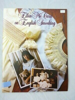 Ellen McCarn on English Smocking Book Stitches Plates Stacking Pleating More