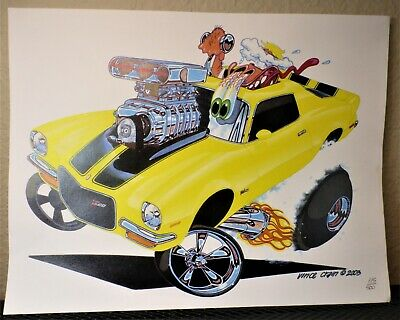 Vince Crain FULL BLOWN 1971 Camaro Z28 Art Print numbered 115/500 Muscle Chevy