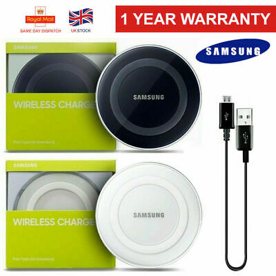 Genuine Samsung Wireless Charger Fast Charging Pad Galaxy S6 S7 S8 S9 S10 iPhone