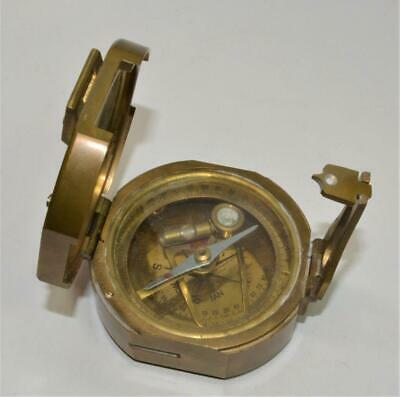 Natural Sine Heavy Solid Brass Nautical Compass Navigation Sextant
