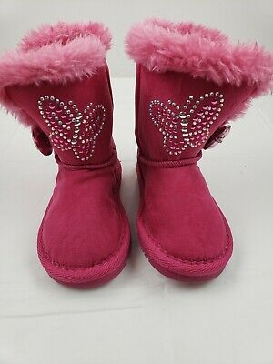 NEW Girl/'s Toddler/'s Canyon River Blues Annette Heart Boot 14061 Fuchsia ROE12