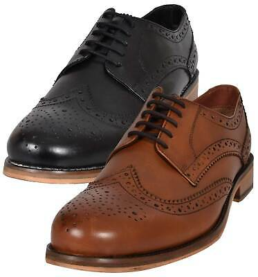 MENS CATESBY LEATHER LACE UP SMART FORMAL BROGUES SHOES MCATES//0310T