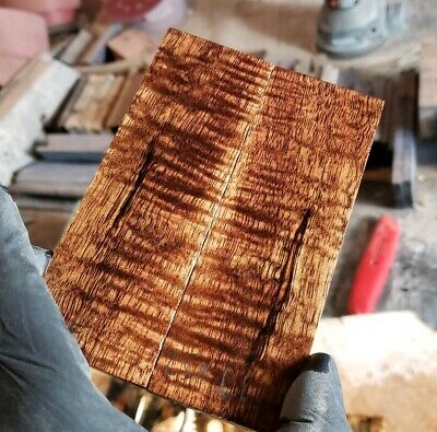 Stabilized curly koa exotic wood scales knife blank for Crafts 1911 gun grips