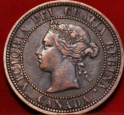 1882-H Canada One Cent Foreign Coin