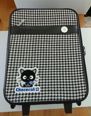 Sanrio 2007 Chococat Check Rolling Travel Bag Luggage Suitcase NEW