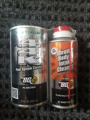 BG 44K Fuel System Cleaner w/ Throttle Body and Intake cleaner 5oz