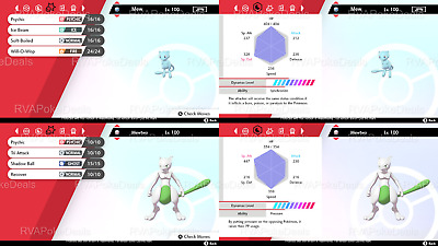Pokemon Sword Shield / Ultra Shiny Mew & Mewtwo / 6IV Battle Ready Bundle Set