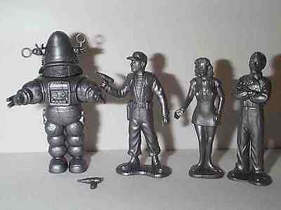Forbidden Planet Figures With Robby The Robot,Altaira,Capt.adams & Morbius Mip B