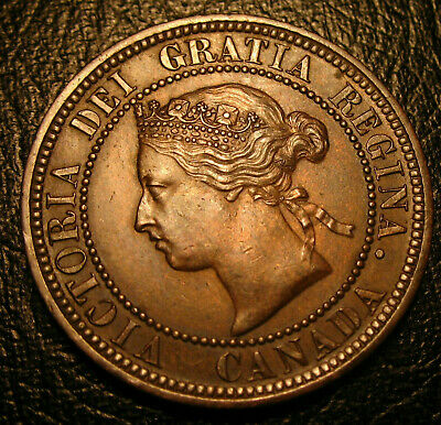 Old Canadian Coins 1876 H Canada  HIgrade Large Cent