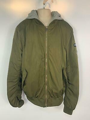 Girls H&M Khaki Green Casual Winter Padded Hood Bomber Jacket Kids Age 14 Years