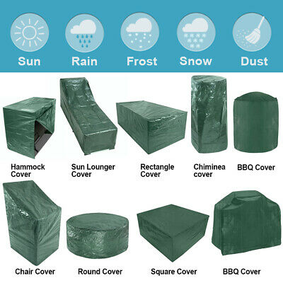 Garden Patio Furniture Cover Waterproof for Table Bench Hammock Chiminea BBQ