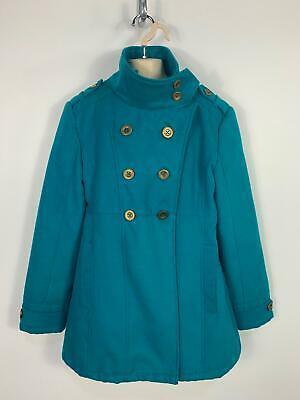 Girls Marks&Spencer Blue Smart/Casual Winter Overcoat Jacket Kids Age 13/14 Year