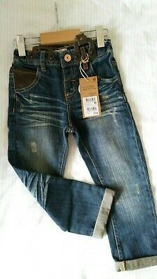 BNWT Next Boys Jeans with Braces Age 2-3 years