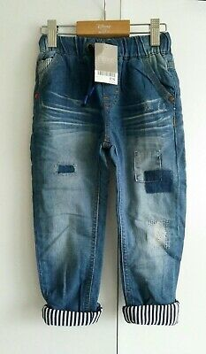 BNWT Next Boys Lined Patches Jeans Age 2-3 years