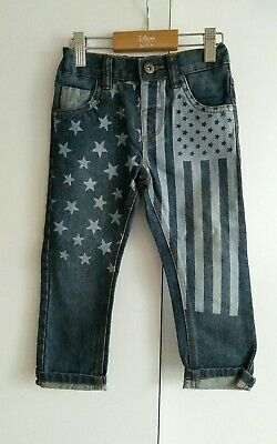 BNWT Next Boys American Flag Jeans Age 2-3 years