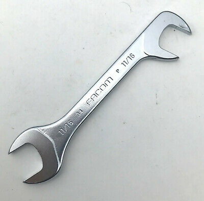 "FACOM 34.9//16-9//16/"" AF MIDGET WRENCH WITH OPEN ENDS AT 15 AND 75 DEGREES"