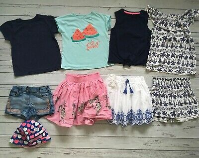 Girls Ge 7-8 Years Summer Holiday Clothes Bundle Tops Shorts Skirts Hat Tu Etc