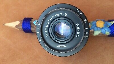 Industar  50-2 Soviet lens 3.5/50mm M42 mount KMZ  TESTED