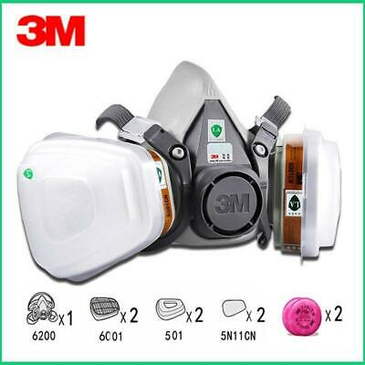 9in1 3M 6200 Half Facepiece Gas Mask Respirator With 6001/2091 Filter Fit Painti